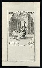 santino incisione 1600 S.CECILIA V.M.  j.callot