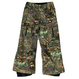 Burton Analog AG Camo Ski Snow Pants Mens Large Camouflage Asset Pant 10,000G