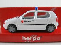 """Herpa 185332 VW Polo III (1994-1997) """"Malteser"""" in weiß 1:87/H0 NEU/OVP"""