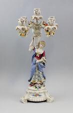 5 lights splendour candelabra with Ladies figure Gold edition Porcelain 9937392