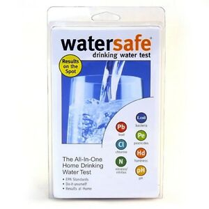 WaterSafe All-In-One Drinking Water Bacteria Lead Pesticides Test Testing Kit