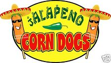 "Jalapeno Corn Dogs Decal 14"" Hot Dogs Concession Food Truck Cart Vinyl Sticker"