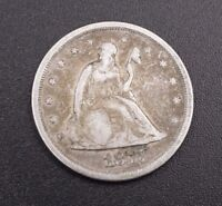 1875-S 20C Liberty Seated 20 Cent San Francisco 90% Silver Rare Date M530