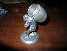 antique silver figural toothpick holder MAN BARREL ~napkin ring TUFTS 2643