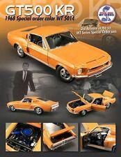 1:18 GMP Acem 1968 Shelby GT500KR ~ Naranja / Negro Interior ~ 428 V8 4 Speed ~