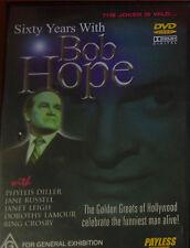 AS NEW: SIXTY YEARS WITH BOB HOPE - DVD Region 4 R4 - 1990 DOCUMENTARY