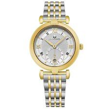 Alexander Mujer Hecho en Suiza Cuarzo Oro Amarillo Tono Acero Inoxidable Reloj
