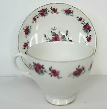 Queens Vintage Pink Cabbage Roses Tea Cup and Saucer England
