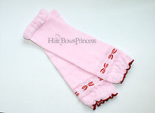 Baby Leg Warmers Toddler Girl pink bow leggings  Valentines day pink kids