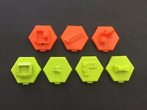 U-Build MONOPOLY City 4 Bonus & 3 Hazard Buildings 3D Replacement Parts