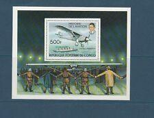 Congo république bloc avion Lindbergh aviation   1977  num: BF 12 **