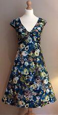 LAURA ASHLEY dress size 14 Color Foglia Di Tè Giallo Floreale