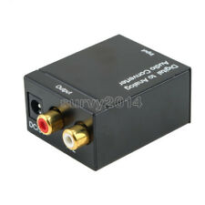 RCA L/R Coaxial Toslink Digital to Analog Audio Converter Adapter Interconnects