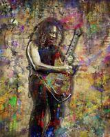 Kirk Hammett Of METALLICA 8x10in Poster, Metallica Print Free Shipping