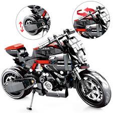 702pcs Motorcycle Model Building Blocks Racing Cars Technic Kids Toys Bricks