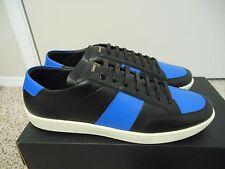 MRSP $595 SAINT LAURENT SL/01 Royal Low Top Court Sneakers blue Eu 44 US 11