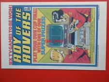 POSTCARD ROY OF THE ROVERS COMIC COVER 28 MAY 1977