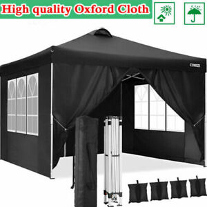 Pavillon Wasserdicht Faltpavillon 3x3/6m Pavillon Faltbar Zelt Mit 4Seitenteilen