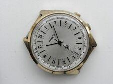 RAKETA WORLD TIME 24H Soviet Russian watch gold-plated case HQ-SIGN G.Cond!!!