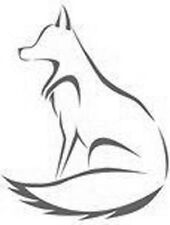 SITTING FOX 190mm MYLAR REUSEABLE STENCIL - A5 - IMAGE APPROX 4.7 x 7.1 inch