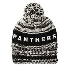 NFL Carolina Panthers Moto Marled Pompster Beanie, One Size Fits Most! NEW