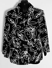 Noni b Jacket Size 8 Black White Cotton Blend Fully Lined ❤️