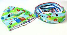 Gorro Bufanda Set para Niños Multicolor Anillado con Patrón Jersey de Algodón