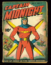 Captain Midnight 8 good  reader copy 1943 Fawcett WWII era