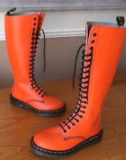 Vintage Dr Martens 1420 orange smooth leather boots UK 5 EU 38