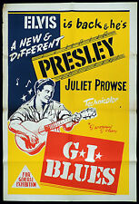 GI BLUES Original One sheet Movie poster ELVIS PRESLEY Juliet Prowse