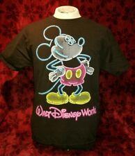 MEDIUM Neon Sign Mickey Mouse Walt Disney World T-shirt Punk Rock Retro