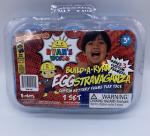 RYAN'S WORLD EGGstravaganza 6 Pack, Multicolor New. Makes 3 Costume Figures