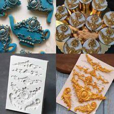 Vintage Silicone Fondant Mould Relief Baroque Cake Decor Border Sugar Craft Mold