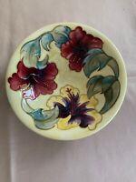 Rare Vintage Moorcroft Yellow Hibiscus Pattern Fruit Bowl