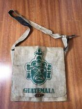 Guatemala Mayan Art Burlap Jute Shoulder Messenger Bag Handmade