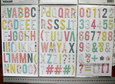 PAIGE - FANCY FREE Mixed Chipboard 112 Alphabet & Numbers 37mmHigh&6-28mmWide L7