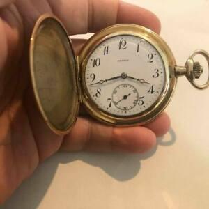 Drusus vergoldete Taschenuhr mit Sprungdeckel - 20er Jahre