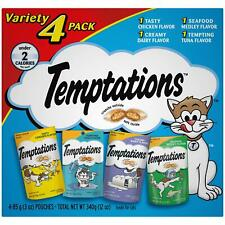 Temptations Classic Cat Treats Feline Favorites Food Variety (4 Pack) 3 oz