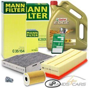 MANN-FILTER INSPEKTIONSPAKET+5L CASTROL 5W-30 LL AUDI A3 8P 1.6 2.0 TDI 03-13