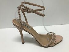 STEVE MADDEN WISH BLUSH LEATHER STUDDED ANKLE STRAP SANDALS US 9.5M $99