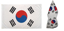 "Wholesale Combo Set South Korea Country 3x5 3'x5' Flag and 8""x60"" Scarf"