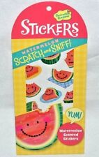 PEACEABLE KINGDOM 26 SCRATCH N' SNIFF-WATERMELON SCENTED STICKERS-HAPPY SLICES