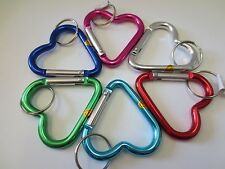 "1 pc Metal Heart Carabiner Key Chain / Size 2 1/8"" -2 1/4"""