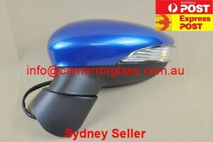 NEW DOOR MIRROR FOR FORD FIESTA 2008 - 2013 WS WT (LEFT, BLUE 2, NO AUTOFOLD)