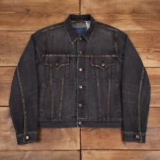Mens Vintage Levis Red Tab Faded Grey Selvedge Denim Trucker Jacket M R22549