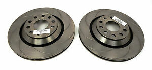 RTS Rear Brake Discs, 8 Grooves suitable for VW, Seat, Skoda and Audi