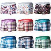 Men's Swim Shorts Beach Pants Plaids Print Swimwear Trunks Boxer Briefs 8 Colors