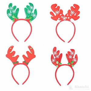 8 x Christmas Headband Reindeer Antlers Xmas Party Costume Accessories Fun Games
