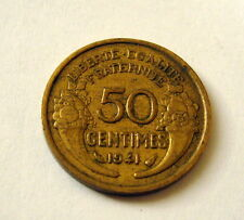 1941 France 50 Centimes Coin