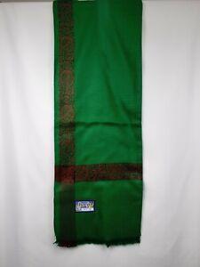 yemeni arab kashmiri green red shawl shemagh scarf mens sufi headscarf shia soft